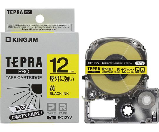 テプラ PROテープ 屋外に強い黄/黒文字 SCシリーズ