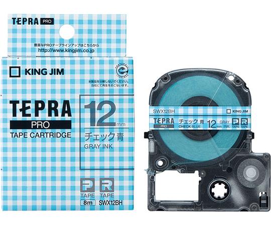 PROテープ チェック青/グレー文字 SWXシリーズ