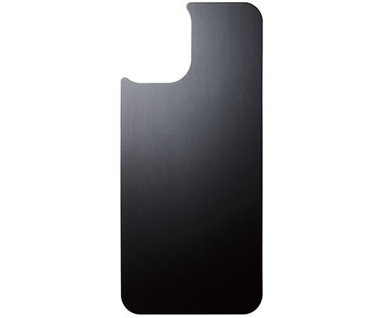 [取扱停止]iPhone 12 mini用背面用ガラスフィルム アルミ調 ヘアラインデザイン PM-A20シリーズ