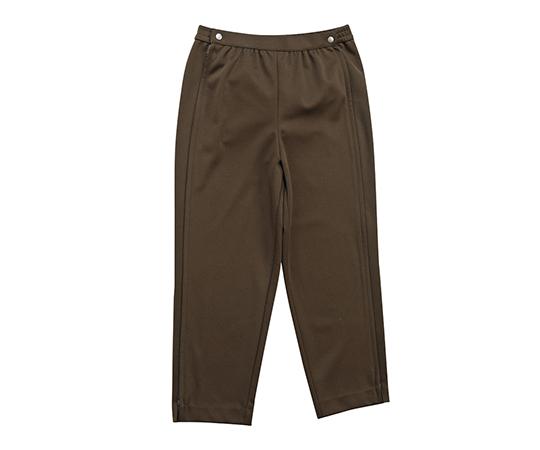 のびのびゆったりパンツ(両脇ファスナー付) ブラウン L