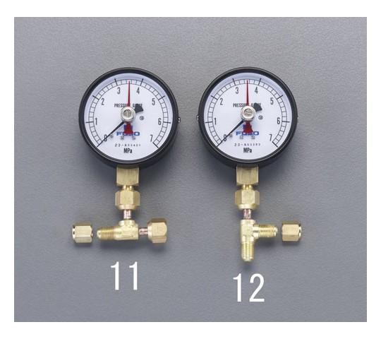 置針式圧力計(アダプター付/ヨコ型) EA301KAシリーズ