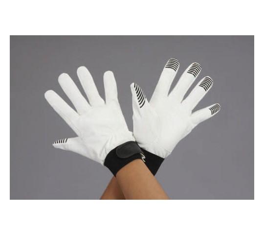 手袋(指先すべり止付・合成皮革/白) EA353BJシリーズ