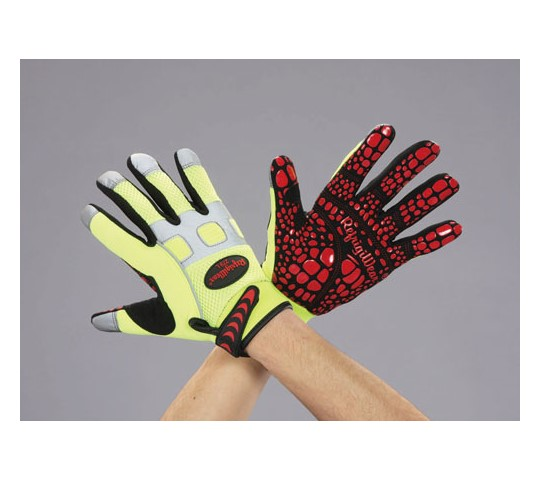 [取扱停止]手袋(合成皮革・滑り止め付/安全色) EA353DCシリーズ