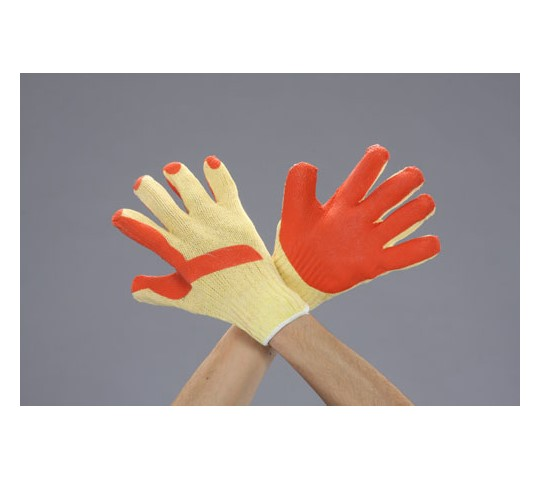 手袋(ナイロン・ポリエステル・天然ゴム張り/橙) [フリー]