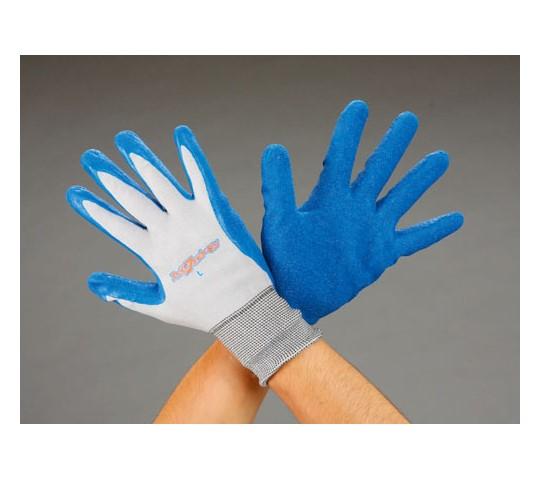 手袋(薄手・ナイロン・天然ゴム張り) [L]