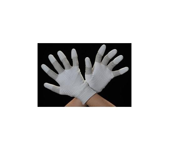 手袋(銀メッキナイロン繊維・指先ウレタンコート) [L]
