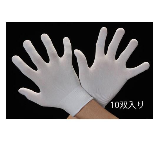 手袋・インナー(クリーンルーム用・ナイロン/10双) [M]