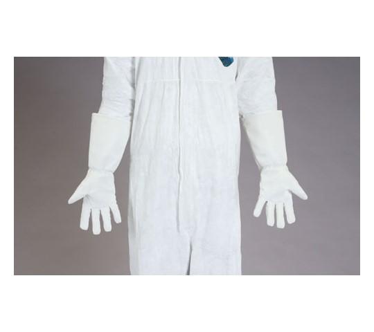 手袋(耐熱・クリーンルーム用・合成皮革) 400mm フリー]