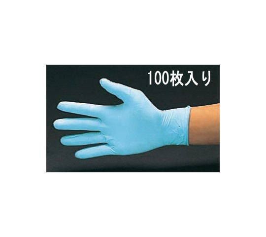 手袋(ニトリルゴム・パウダー無/100枚) [M] EA354BD-51F
