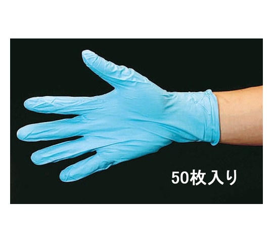 手袋(ニトリルゴム・パウダー付/50枚) [M] EA354BD-71