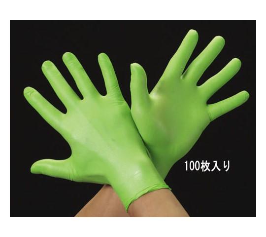手袋(ニトリル・パウダー無・滑り止付/100枚) [L]