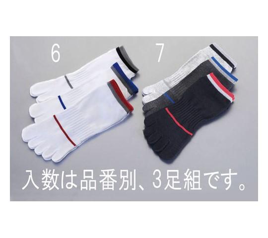 靴下(スニーカー・本指/白)足
