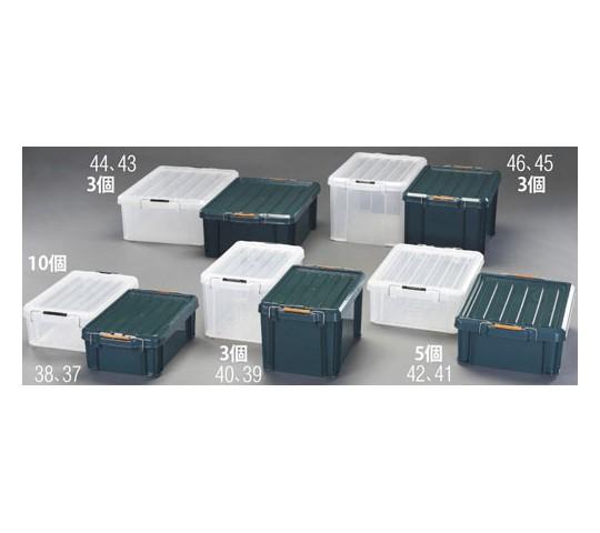 [取扱停止]630×445×230mm収納ケース(バックル付/グリーン/3個) EA506AB-43B
