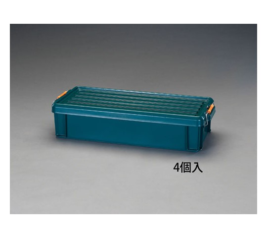 [取扱停止]710×300×160mm収納ケース(バックル付/緑/4個) EA506AB-50B