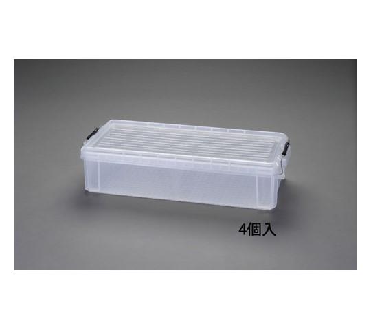 710×300×160mm収納ケース(バックル付/クリアー/4個) EA506AB-50CB