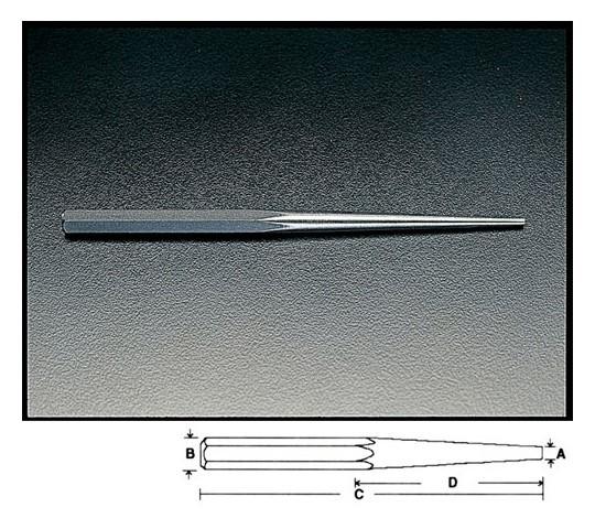 [取扱停止]4.8×250mmピンポンチ(ロング) EA572MK-4.8