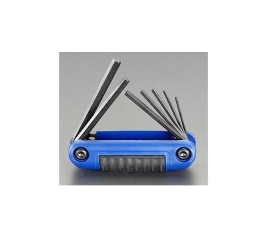 [取扱停止]六角キーレンチセット(折込式) 3.0-10mm EA573BH-3