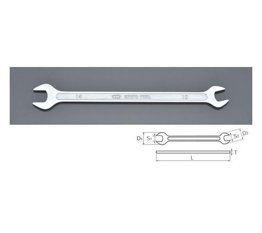 [取扱停止]両口スパナ(薄型) 14×12×215mm/4.0mm