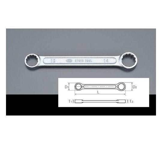 [取扱停止]メガネレンチ(ショートサイズ・ストレート) 10×12mm