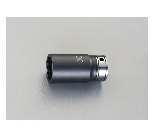 """ディープソケット(インパクト兼用) 1/2""""sq×25mm"""