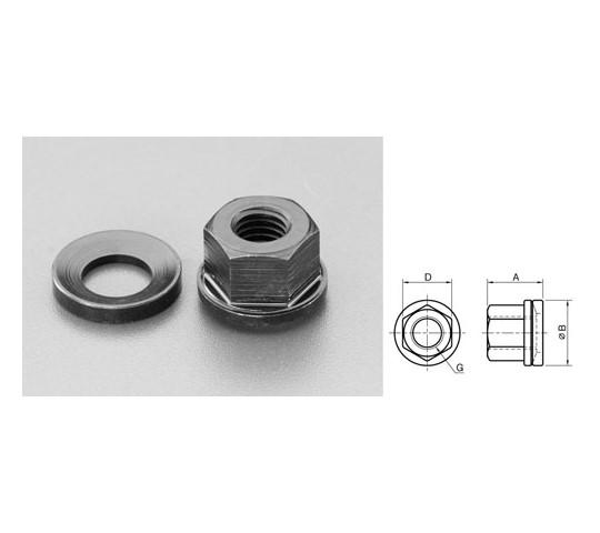 焼入フランジナット 座金付 M8×13.5mm