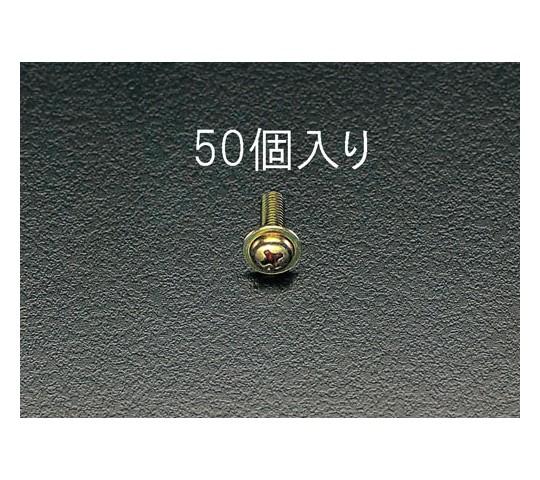 鍋頭小ねじ ワッシャーヘッドクロメート M5×10mm 50本
