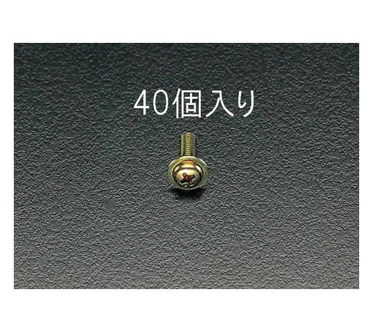 鍋頭小ねじ ワッシャーヘッドクロメート M5×16mm 40本