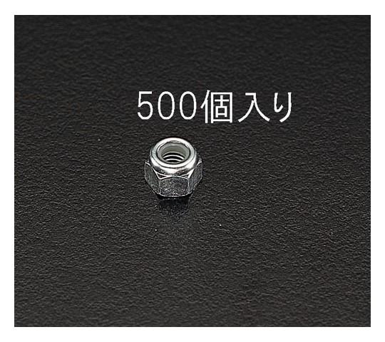 [ゆるみ止]ナイロンナット ユニクロメッキ M4 500個