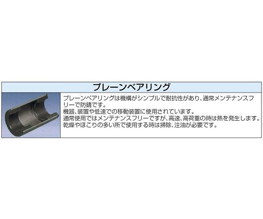 75×23mm車輪(ナイロン・黒)