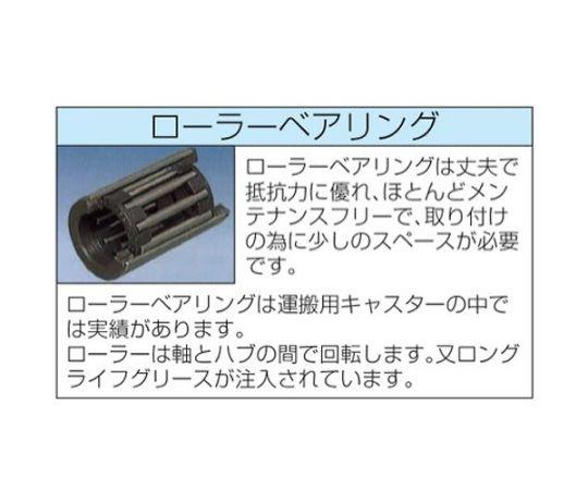 80×25mm車輪(ラバータイヤ・PPリム・ローラーベアリング)