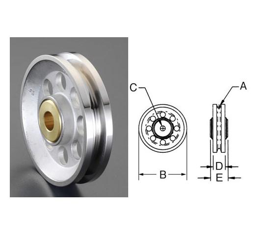 25.4×12.7×160mmロープシーブ(ステンレス製)
