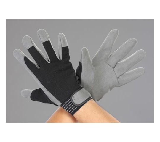 手袋(合成皮革/黒・グレー)