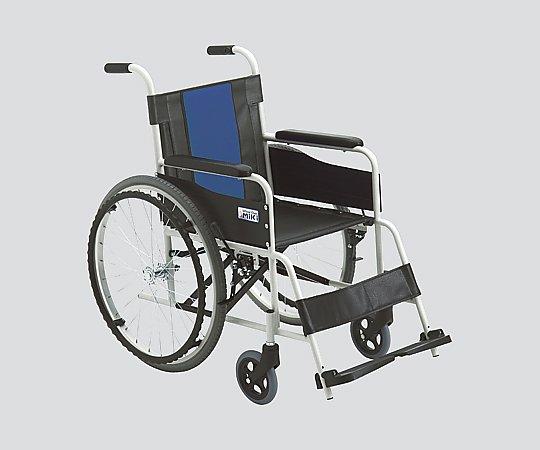 車いす (自走式/スチール製/ノーパンクタイヤ)