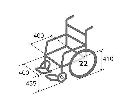車いす (自走式/スチール製/ノーパンクタイヤ) FE-3