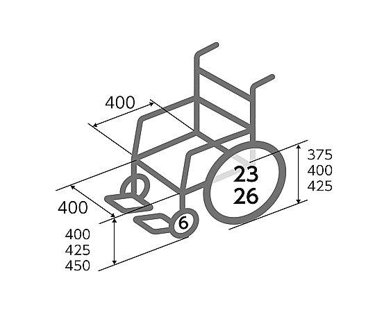 車いす (介助式/アルミ製セミモジュール型)  BAL-6