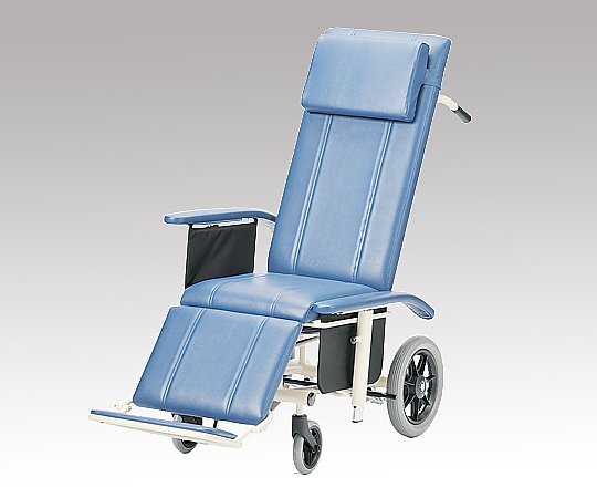 フルリクライニング車椅子 (介助式/スチール製/座幅430mm/ノーパンクタイヤ)