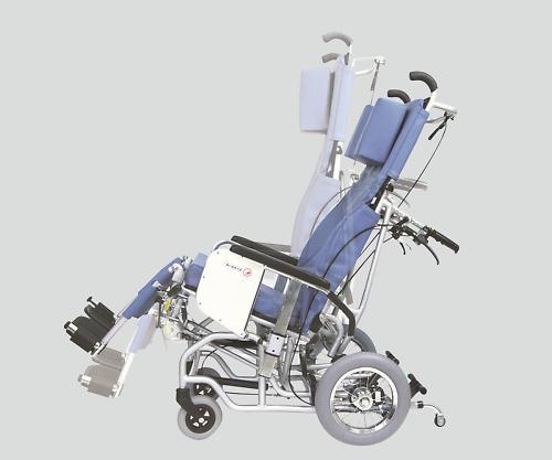 チルト&フルリクライニング車椅子(クリオネット) 濃紺チェック AYK-40 A13