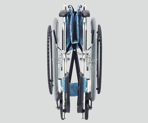 [取扱停止]車椅子(アルミ製) 小花ブルー