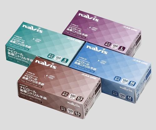 [取扱停止]ナビロール医療ニトリル手袋(パウダーフリー) M 1箱(100枚入)