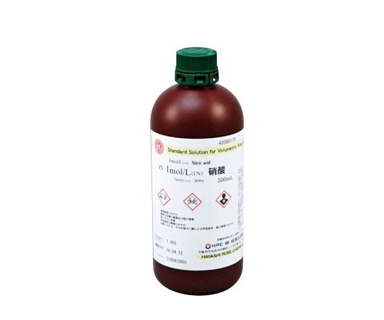 1mol/L(1N) 硝酸 VS 500mL CAS No:7697-37-2 42000175