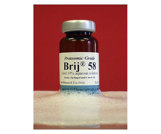 Brij(R) 58 (Polyoxyethylene(23)cetyl ether), 10% Aqueous Solution (Proteomic Grade), 10 x 10mL Vials DG006