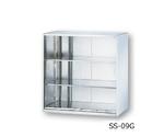 ステンレス収納庫 引き戸(ガラス戸) 900×500×900mm
