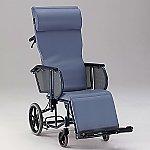 フルリクライニング車椅子 (介助式/スチール製/座幅400mm/ノーパンクタイヤ)