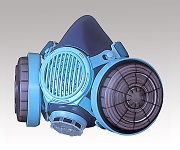 [Discontinued]Dustproof Mask (For Safety Countermeasures For Nanomaterials) Type 7191DKU