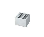 Aluminum Block Test Tube 16.5mm for 25 Tubes AB-170