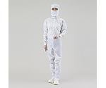 アズピュアCRウェア(クリーンウェア) 11120SW(フード一体・センターファスナー) 白