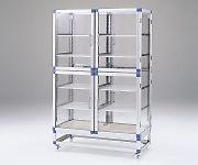 Standard Desiccator Both Sides Type Reinforced Plastic Shelf 1152 x 546 x 1765mm SDW-WP
