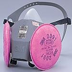 [取扱停止]防塵防毒マスク 6000DDSR/2091RL3 Lサイズ 6000DDSR/2091-RL3