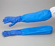 ニトリル薄手手袋腕カバー付き