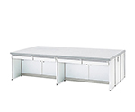 Central Laboratory Bench White, with Drawer, Frame Type 1800 x 1200 x 800 and others